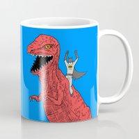 dinosaur Mugs featuring Dinosaur B Forever by Isaboa