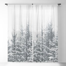 In Winter Sheer Curtain