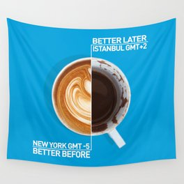 Coffee - nyc vs istanbul Wall Tapestry