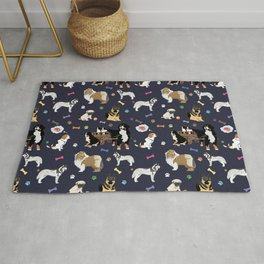 Colorful Dog Pattern Rug