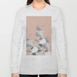 Eucalyptus Leaves Gray White Pale Terracotta #1 #foliage #decor #art #society6 Long Sleeve T-shirt