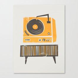 Vinyl Deck Canvas Print
