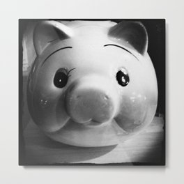 Piggy - B&W Metal Print