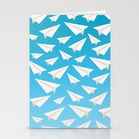 planes Stationery Cards featuring Paper Planes by Elle Moz