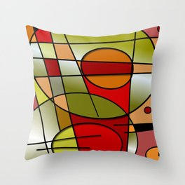 Abstract #48 Throw Pillow
