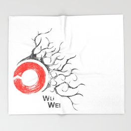 Wu Wei Throw Blanket