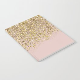Pink and Gold Glitter Notebook