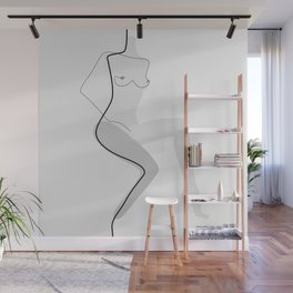 White Movement Wall Mural