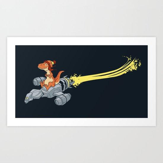 Fireflying Art Print