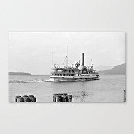 Ticonderoga Side Wheeler Steamboat Canvas Print