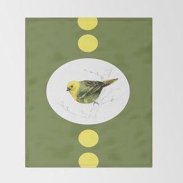 Mr Mohua , yellowhead New Zealand native bird Throw Blanket