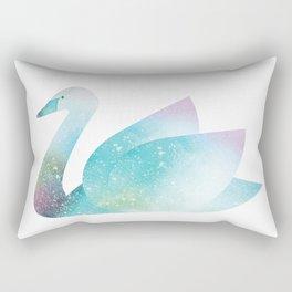 Magical Swan (Flower Petals) Rectangular Pillow