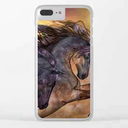 HORSES - On sugar mountain Clear iPhone Case