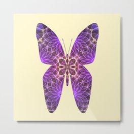 Butterfly 5 (purple) Metal Print