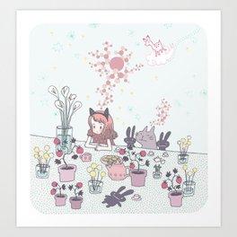 strawberry intelligence Art Print