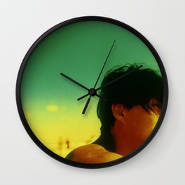 Asian Green and Yellow Wall Clock