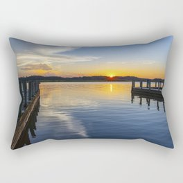 Sunset at the Boat Ramp Rectangular Pillow
