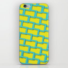Geometric texture with yellow background iPhone Skin