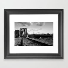 Ways to cross the river Framed Art Print