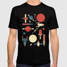 Space Odyssey Black LARGE Mens Fitted Tee