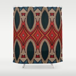 Marais Geometric hand drawn print Shower Curtain
