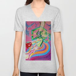 """Love AmBASSador"" by Adam France Unisex V-Neck"