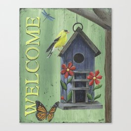 Welcome Goldfinch Canvas Print