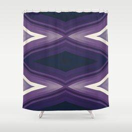 stripes wave pattern 6v2 fn Shower Curtain