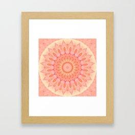 Mandala soft orange 2 Framed Art Print