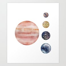 Jupiter & Moons Art Print