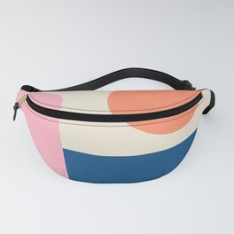 Simple Shapes in Pink, Coral, and Blue Fanny Pack