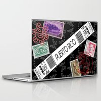 puerto rico Laptop & iPad Skins featuring Welcome to Puerto Rico by Barney Ortiz