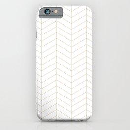 Herringbone - Gold iPhone Case