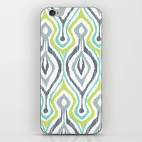 ikat iPhone & iPod Skins featuring Sketchy IKAT by Patty Sloniger