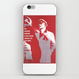 Russia, URSS Vintage Poster (8) iPhone Skin