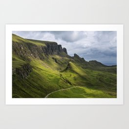 Mesmerized by the Quiraing Art Print
