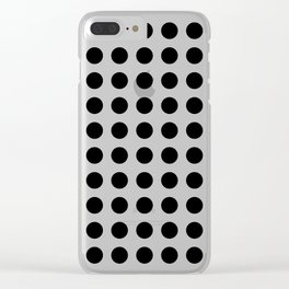 Simply Polka Dots in Midnight Black Clear iPhone Case
