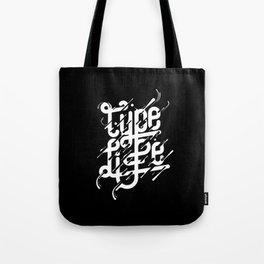 Type Life Tote Bag