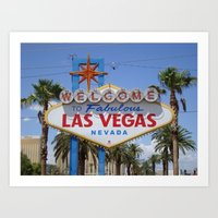 Las Vegas Welcome Sign Art Print