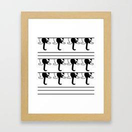 Black and White Kitty Cat Swag Kitty Framed Art Print