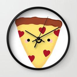Pizza My Heart Wall Clock