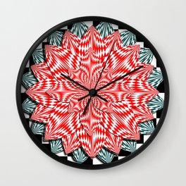Digital Flower Wall Clock