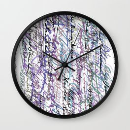All The Presidents Signatures Blue Rose Wall Clock