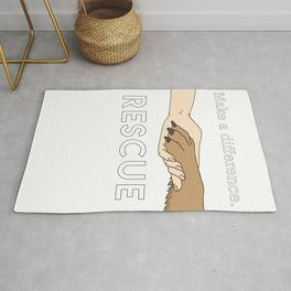 Animal Rescue - Paw Art (Light Edition) Rug