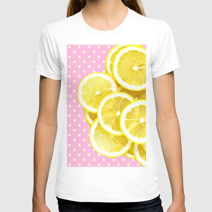 Candy Pink and Lemon Polka Dots T-shirt