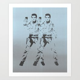 Elvis Double Selfie Art Print