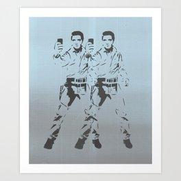 Elvis Double Selfie Art Print