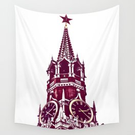 Kremlin Chimes-red Wall Tapestry