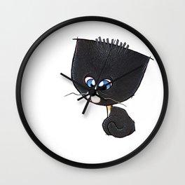 Bewildered Bobtail Kitten Wall Clock