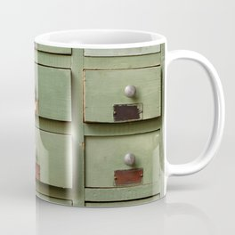 Old wooden cabinet with drawers Coffee Mug